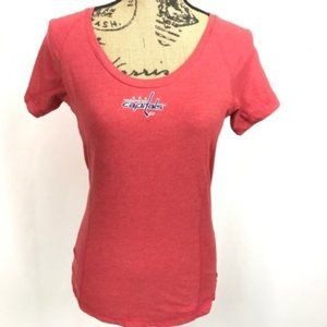 Washington Capitals Embroidered Scoop Neck Red